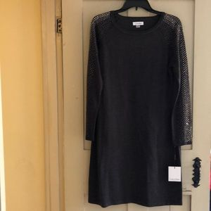 Calvin Klein grey sweater dress.  new never worn
